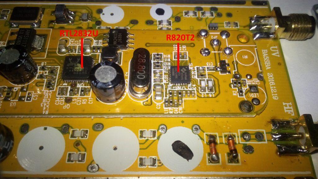 Les puces RTL2832U et R820T2