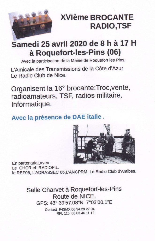 16 ème brocante Radio à Roquefort les Pins