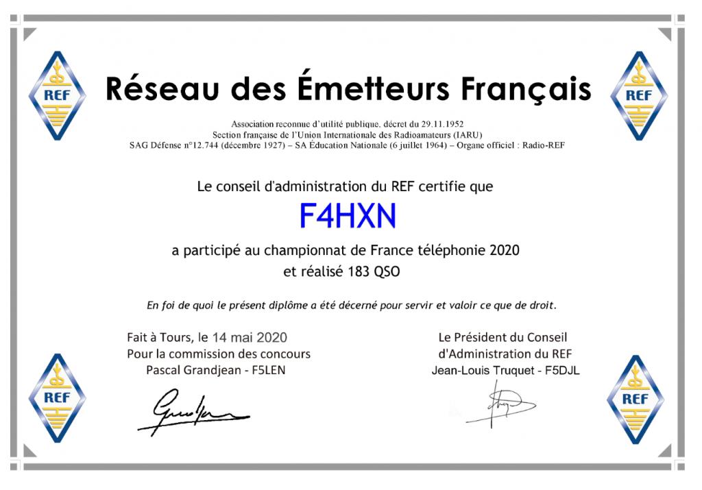 Championnat de France HF Téléphonie 2020