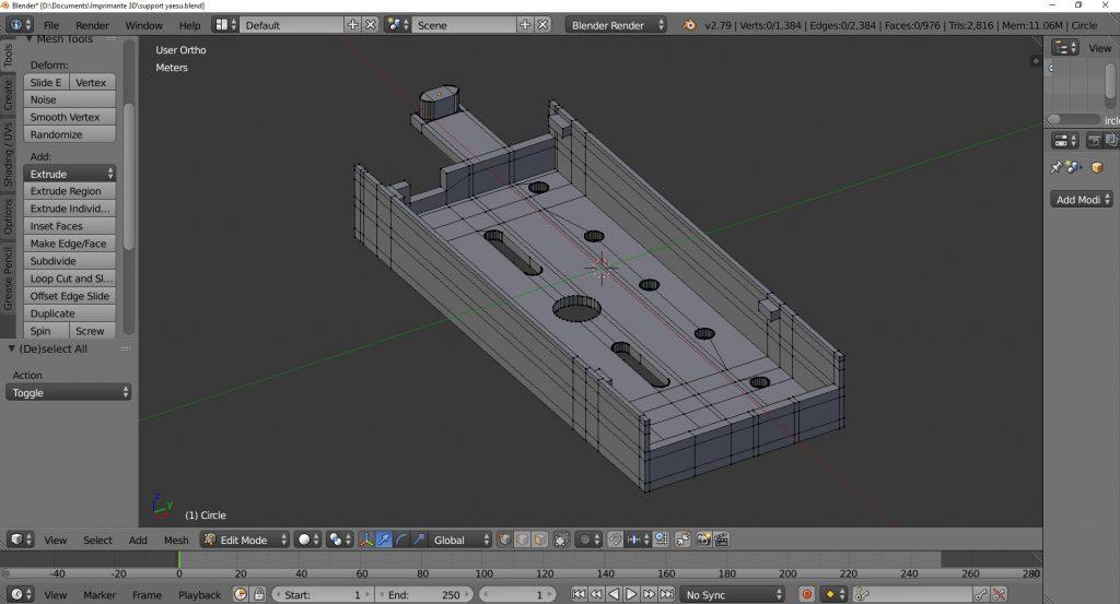 Modélisation avec le logiciel Blender