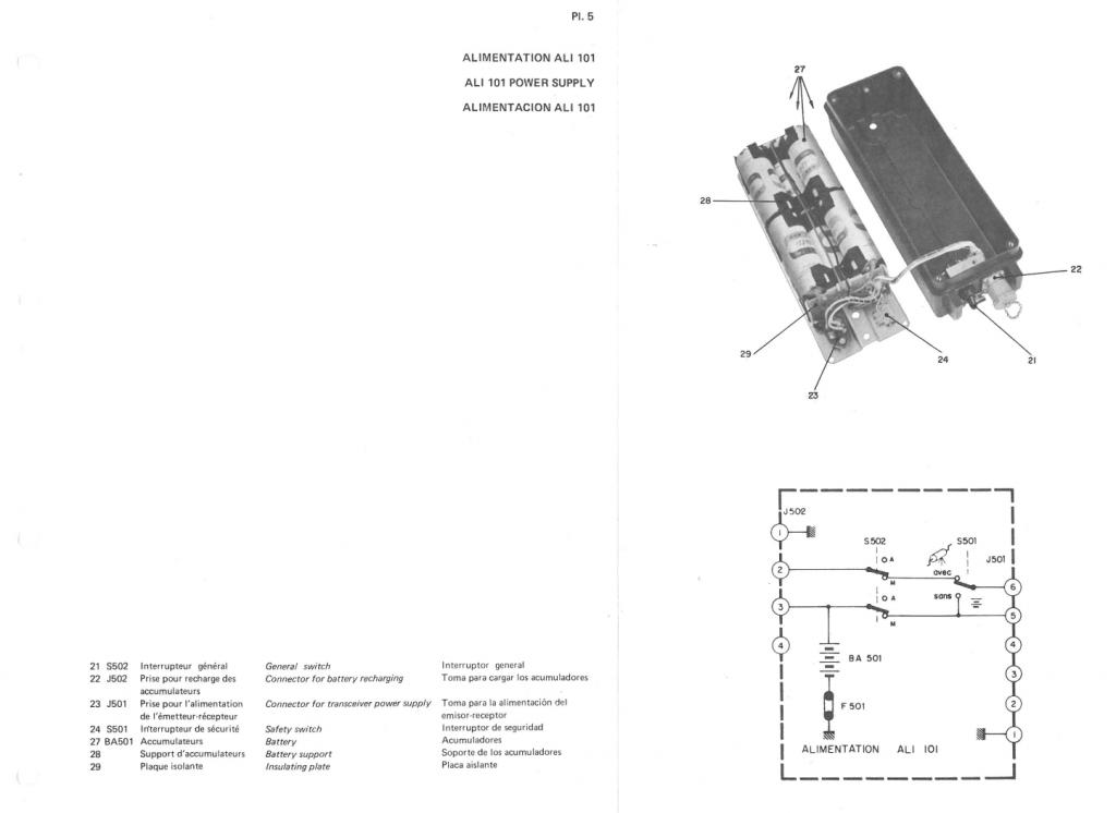 La batterie est composée de 10 éléments Cd-Ni de 1.2V 7.0 Ah