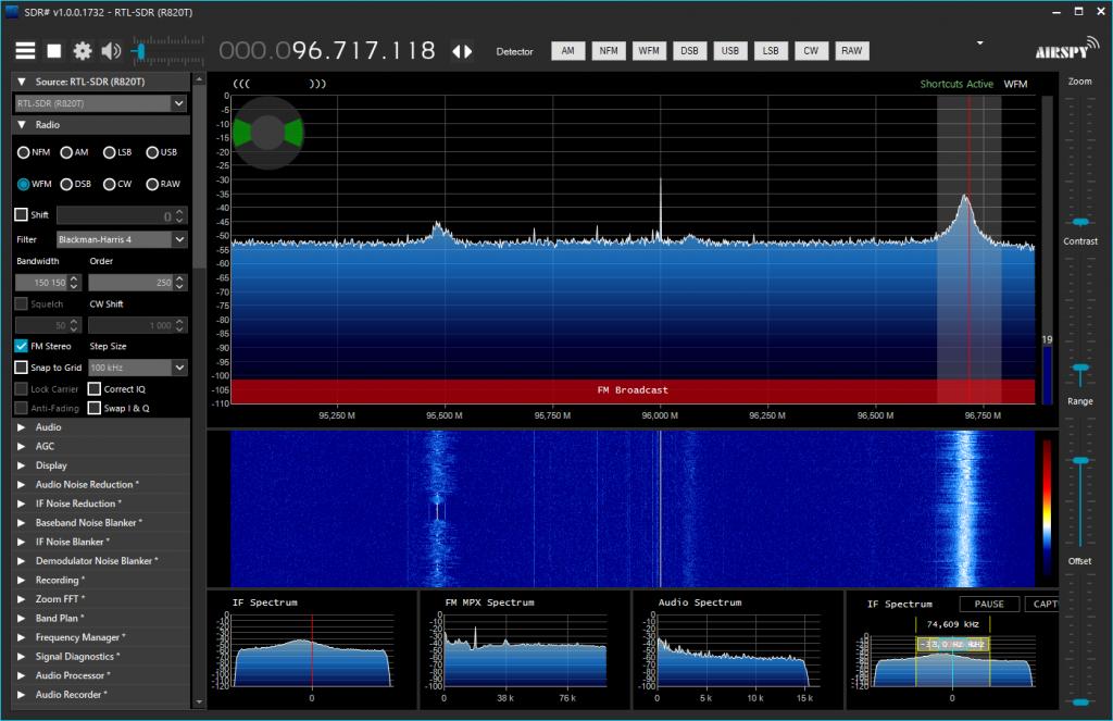 Réception FM Broadcast VHF