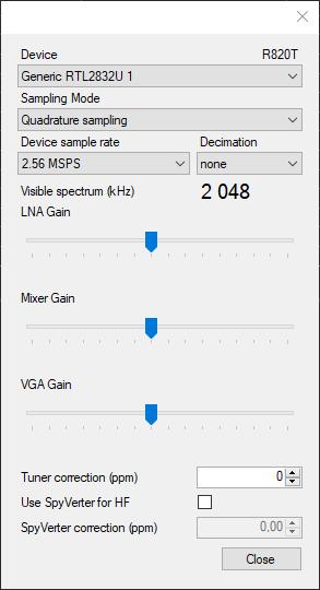 Configuration UHF-VHF