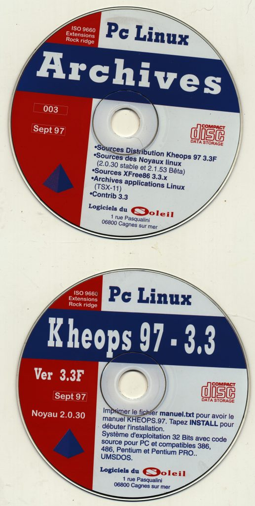 Les 2 CD Linux Kheops