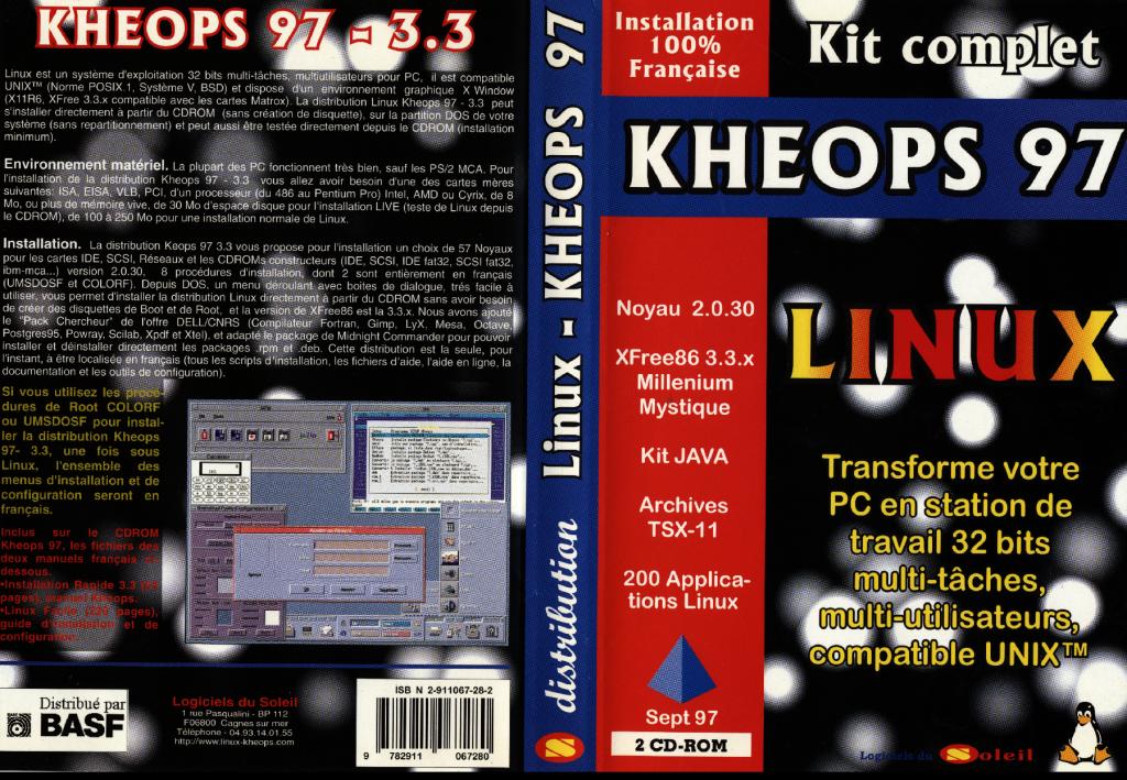 Jaquette Kheops Linux