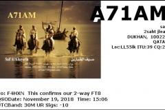 A71AM_20181119_1506_30M_FT8